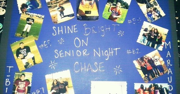 ... Poster board for my brothers last football game : Cute Ideas