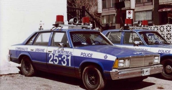 L Evolution Des Autos De Police A Montreal Montreal Voiture De