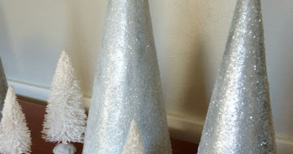 DIY Glitter Snow-Cone Trees Christmas crafts