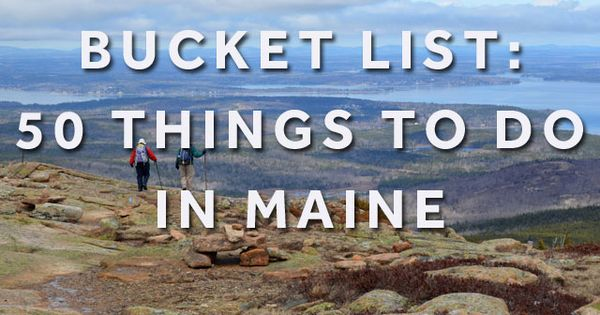 From the mountains to the coast Maine offers it all. Check out