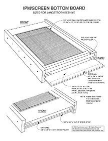 Diy Screened Bottom Board For Langstroth Beehive Bee Keeping Bee Boxes Bee Hive Plans