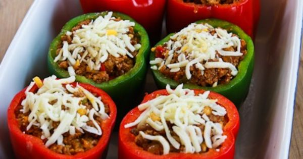Low-Carb Stuffed Peppers with Turkey Italian Sausage ...