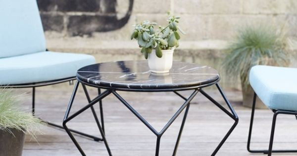 Table basse ronde en marbre et m tal idees jardin pinterest salons tables and interiors - Table jardin metal ronde brest ...