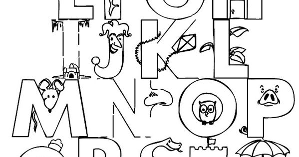 Full Alphabet Coloring Page #colorpages #coloring