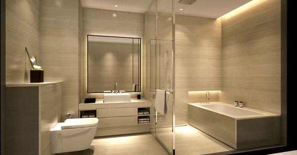 Armani hotel bathroom colores e iluminaci n ba o - Iluminacion de bano ...