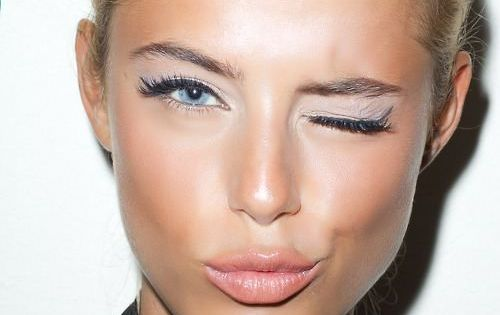 flawless skin and THIS eye makeup!