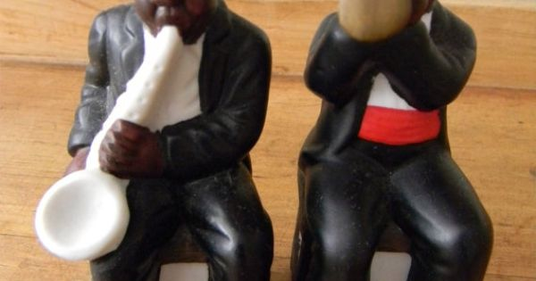 African BLACK AMERICANA Salt and Pepper Shakers New ...