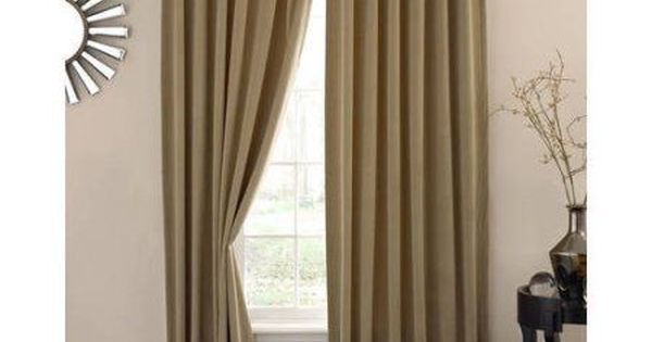 Absolute Zero Velvet Blackout Home Theater Curtain Panel, Brown ...