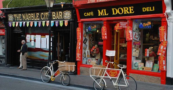 Beautiful Old Caf with Their Own Delivery Bikes