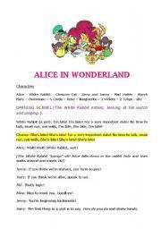 Alice In Wonderland Script For A Play Alice In Wonderland