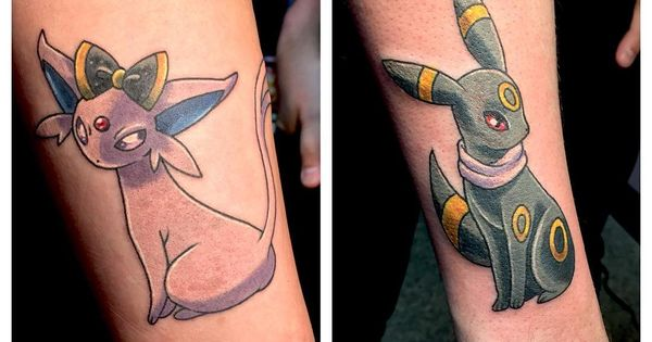 Cute I D Love To Get An Espeon And Umbreon Tattoo One Day But I Just Don T Know Where I D Even