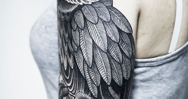 owl shoulder arm tattoo patterns tattoo design