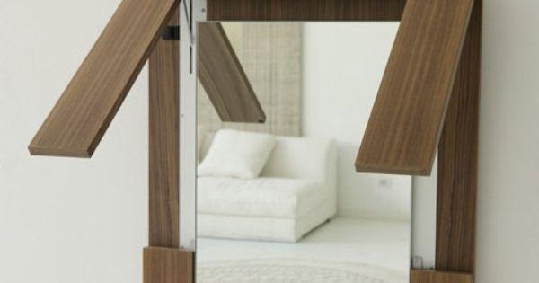 Folding Table Disguised As A Wall Mirror Porada Created A
