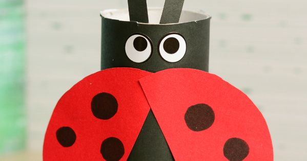 toilet paper roll ladybug craft toilet paper roll ladybug craft ladybug crafts ladybugs 7259