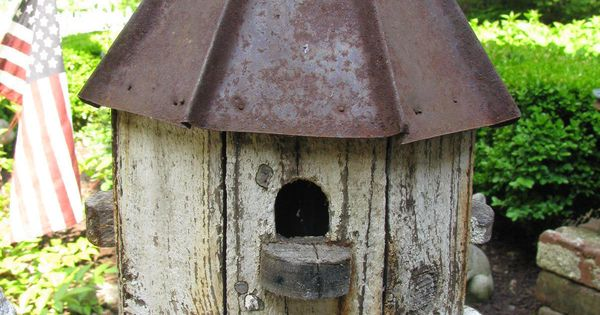 Details About Wonderful Octagon Shaped Tin Roof Birdhouse