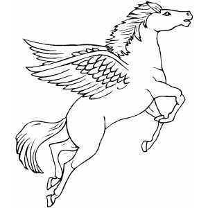 Flying Pegasus Coloring Page Horse Coloring Pages Coloring Pages Horse Coloring