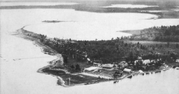 Aerial View Fawcett S Breezy Point Lodge On Big Pelican