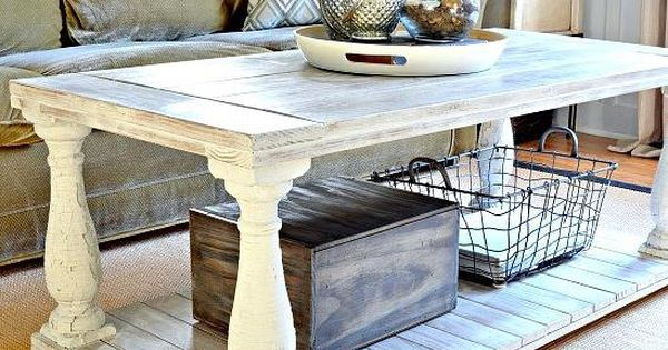Restoration Hardware Knock Off Salvaged Wood Balustrade Coffee Table Restoration Hardware
