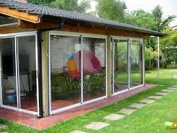 Resultado De Imagen Para Quincho Cerrado Con Vidrio Cerramientos De Aluminio Aberturas De Aluminio Y Quinchos