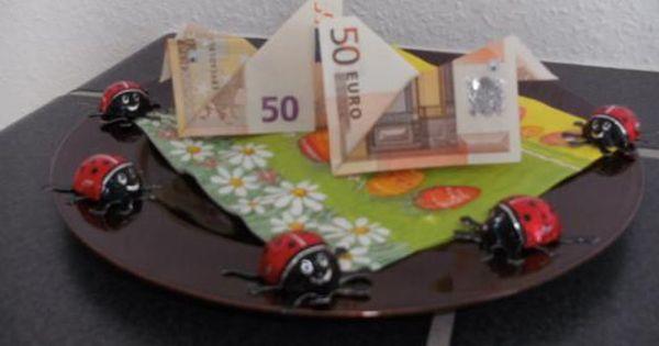 geldgeschenke zu ostern huhn aus geldschein falten schule pinterest geldscheine falten. Black Bedroom Furniture Sets. Home Design Ideas