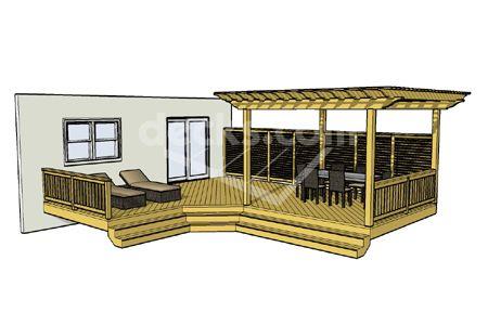 Free Deck Plan 1lx2326 Pergola Pergola Plans Outdoor Pergola