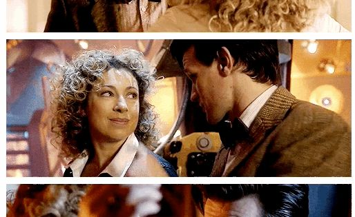 A Doctor and River nose boop gif... You're welcome