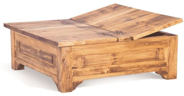 Large Square Storage Chest Trunk Wood Box Coffee Table Wish Someone Would Build For Me