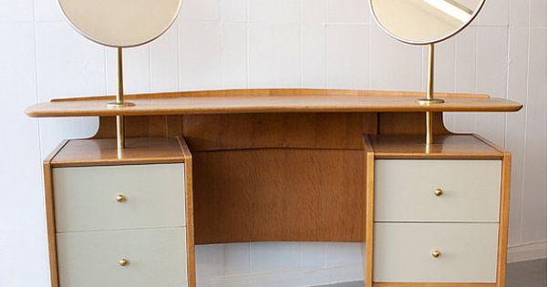 1950 39 s g plan e gomme dressing table mcm design for G plan bedroom furniture dressing tables