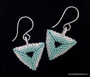 Diy Beading 3d Beaded Triangle Earrings Tutorial Earring