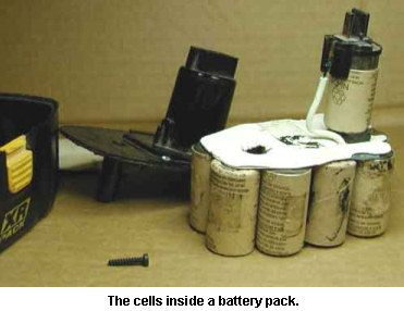 Astromart Articles Rebuilding Nicd Rechargable Battery Packs Battery Pack Battery Drill Battery Repair