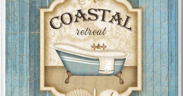 Coastal Retreat Bathroom Wall Plaque Beach Decor Shop In My