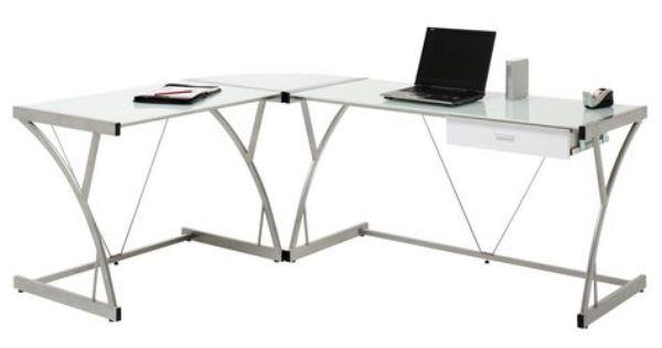 Glass desk, Computer desks and Desks on Pinterest