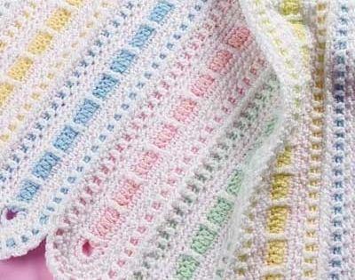 Free Online Crochet Baby Afghan Patterns : Really pretty baby afghan crochet pattern by ...