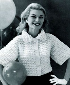Vintage Crochet Cardigan Jacket Tunic Handmade