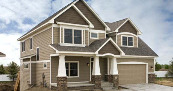 Exterior exterior colors brown trim and new construction - Exterior house colors brown ...