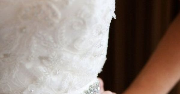 Belt from Weddings 826; Gown by Christos via Belle Vie Bridal Couture