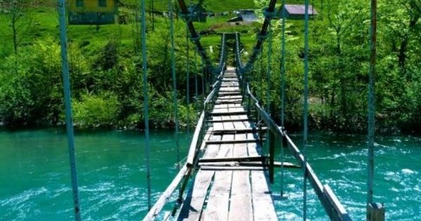 Cross this! :) Turquoise River, The Moraca Valley, Montenegro