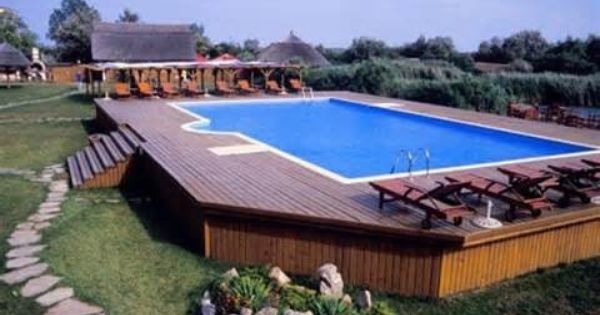 Amazing ground pool decks plans design ideas http for Build your own pool deck