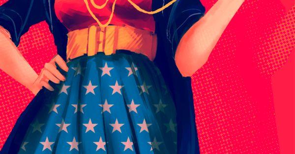 Wonder Woman Fashion Illustration Halloween costume