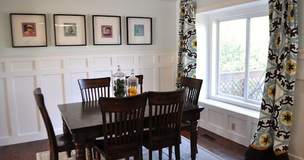 Love The Look Of The Dining Room With The Wainscoting And Window - Board and batten dining room