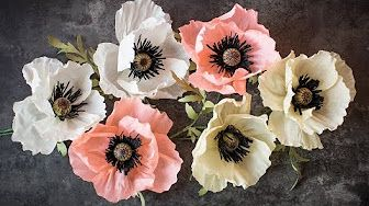 How To Make Anemone Flower From Crepe Paper Craft Tutorial