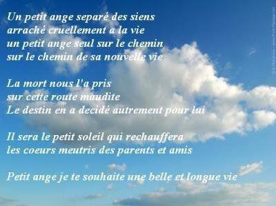 Pour Les Anges Partis Trop Tôt Texte Décès Texte Deuil Et