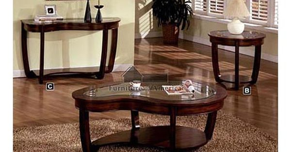 A M B Furniture Design Living Room Furniture Coffee Table Sets Crystal Falls Dark