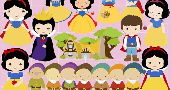 Cute Snow White Clipart 104 Png Images Printable Disney Snow Etsy Clip Art Make Birthday Invitations Banner Backdrop