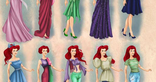 Ariel in 20th century fashion by BasakTinli on deviantART