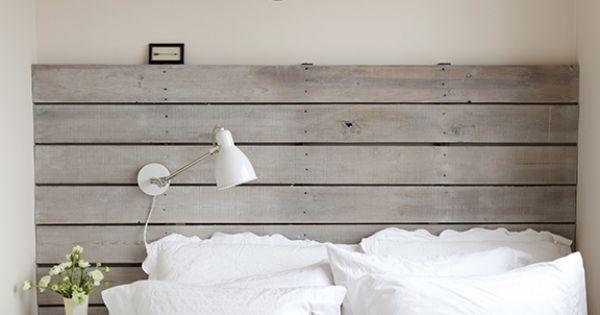 Tete de lit t te de lit pinterest bois gris t tes de lit en bois et ab - Tete de lit bois gris ...
