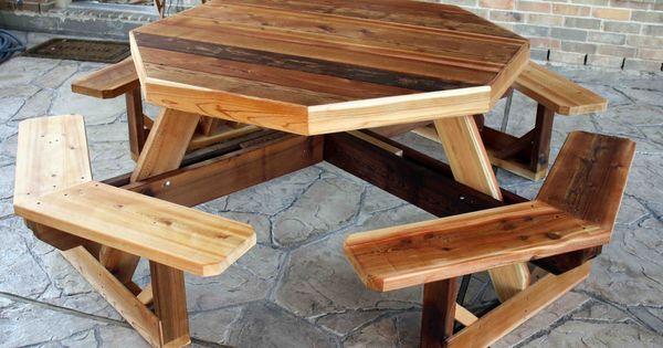 Table De Picnic : Picnic Tables Plans PDF  For the Garden  Pinterest  Plans de ...