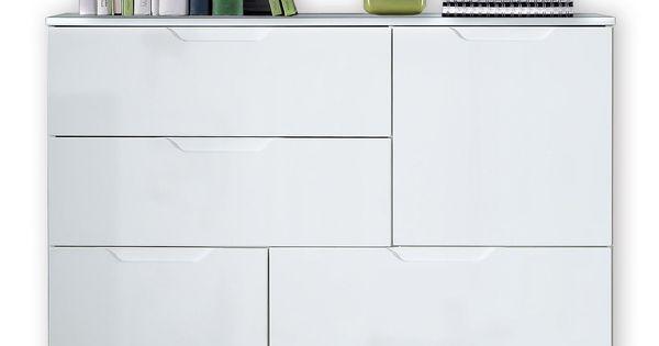 Kommode SIENNA - weiß Hochglanz-weiß - 115 cm breit Jetzt - wohnzimmer weiße möbel