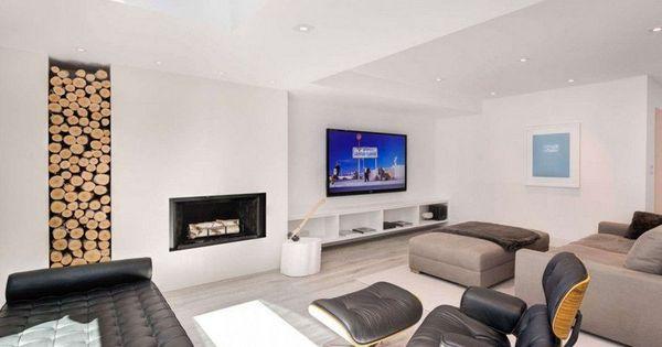Rangement bois de chauffage pour l\'intérieur en 55 idées | Design ...