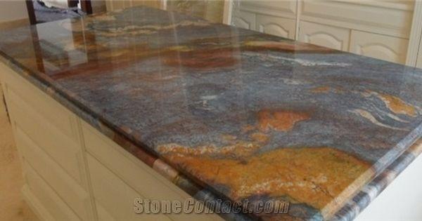 Blue Louise Quartzite Kitchen Countertop From Colombia Stonecontact Com Kitchen Countertops Granite Countertops Kitchen Countertops